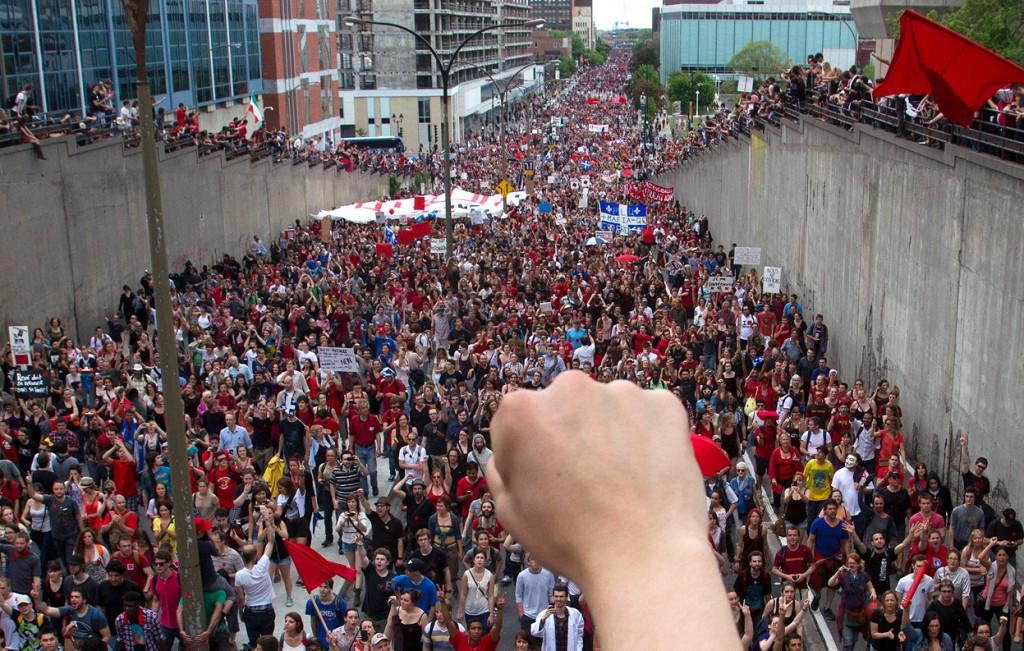 Студентско шествие в Квебек, Канада.