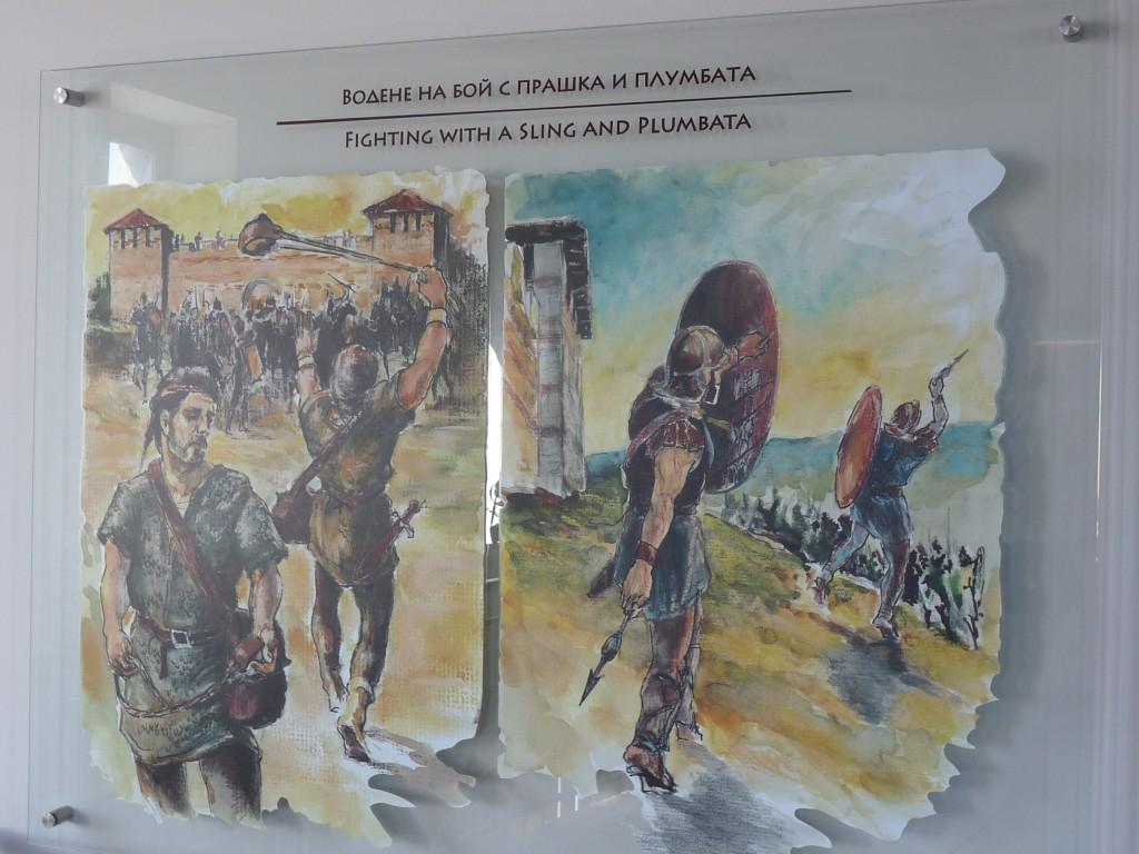 Част от експозицията в музея на крепостта.