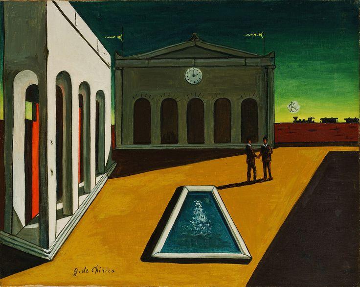 """""""Piazza d'Italia"""" от Джиорджо Кирико, 1913."""