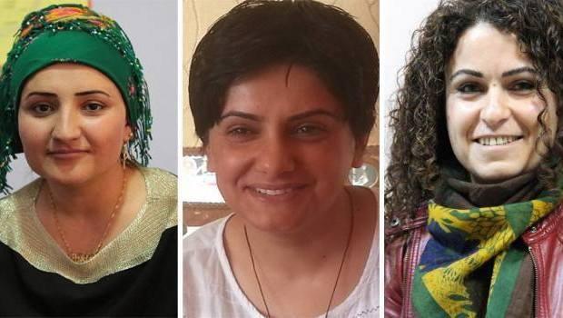 Трите кюрдски активистки, убити на 4 януари в Силопи. От ляво на дясно Пакизе Найър, Фатма Уяр и Севе ДемиИзточник: информационна агенция DIHA.