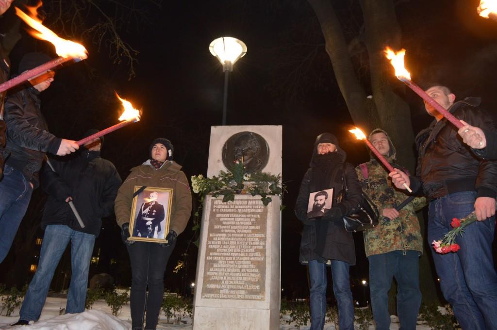 """7 януари 2015, """"откриване на кампанията за Луковмарш 2015"""" при паметник на Илия Минев"""