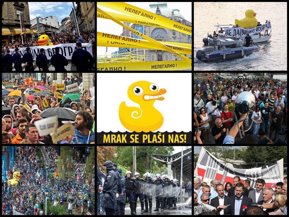 """Колаж от фейсбук страницата на движението """"Не даваме Белград"""""""