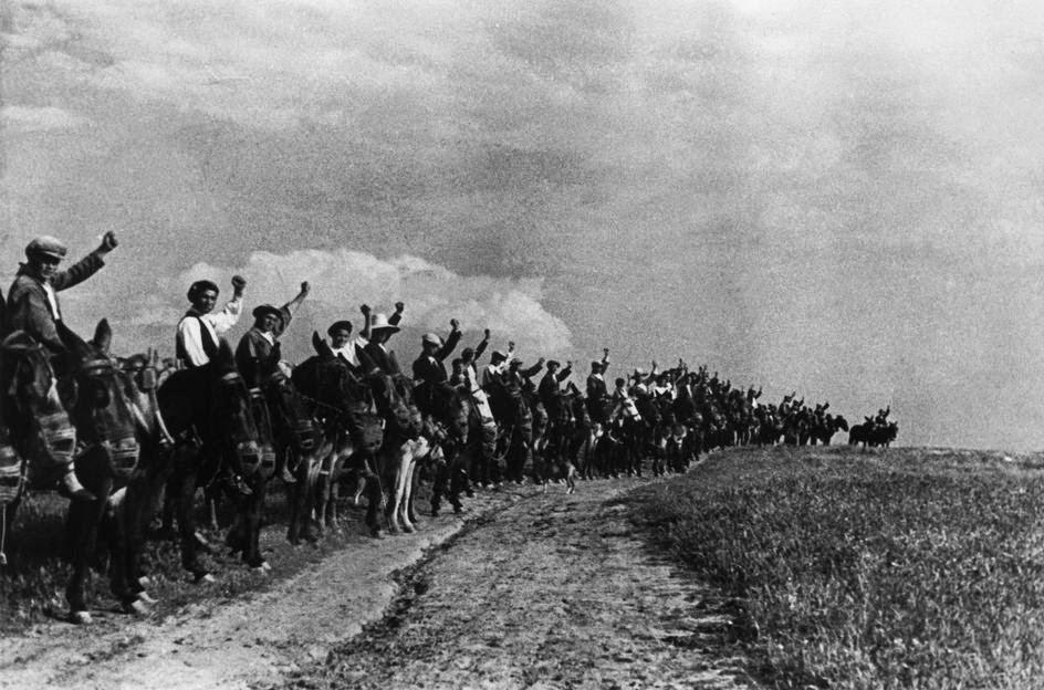 Част от селската армия в защита на републиката.