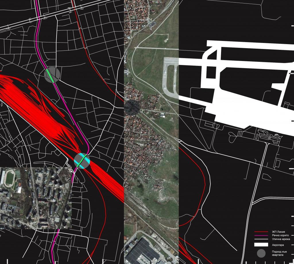 "Карта 2 - квартал ""Христо Ботев"" - инфраструктурни бариери (източник: авторът"
