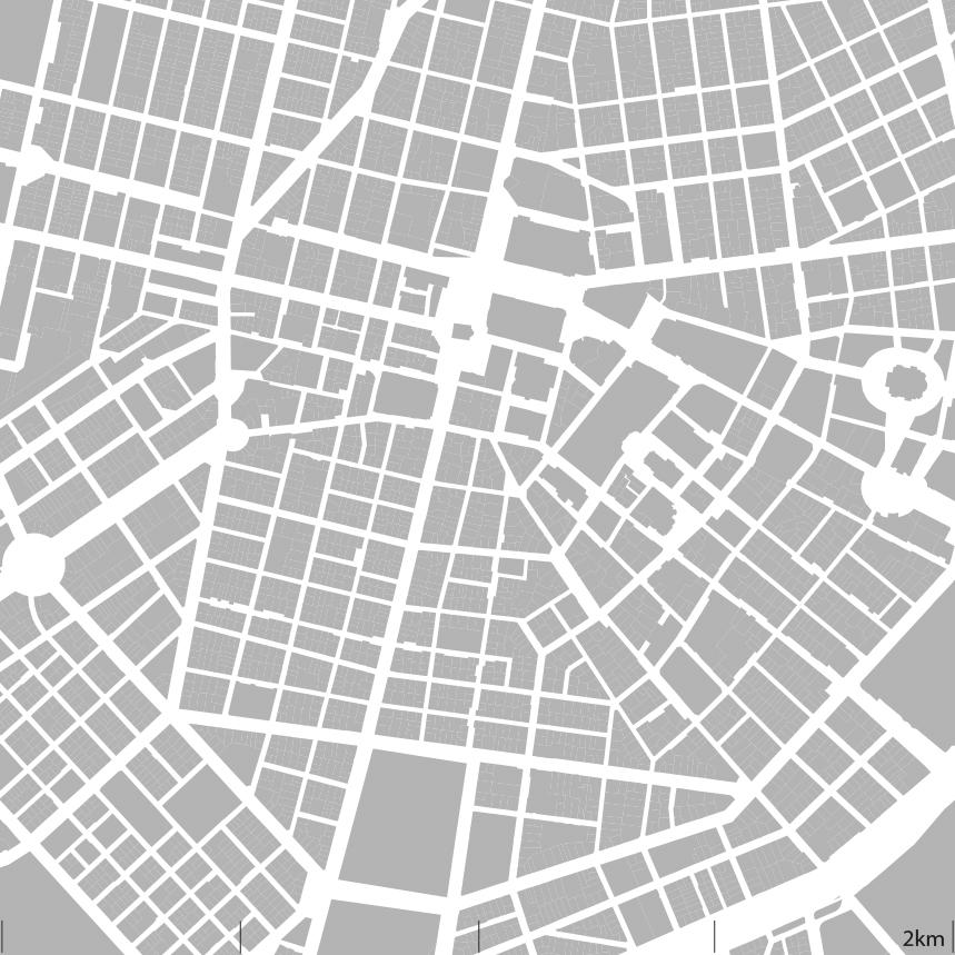 Улична мрежа и квартална структура; Източник: авторът