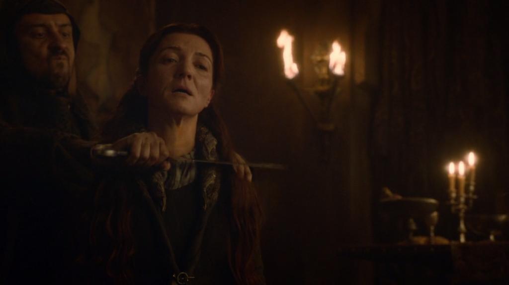"""Кейтлин Старк – живяла и умряла като майка. """"Игра на тронове"""", епизод 9, сезон 3, собственост на HBO."""