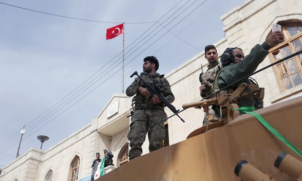 turkish soldiars in afrin
