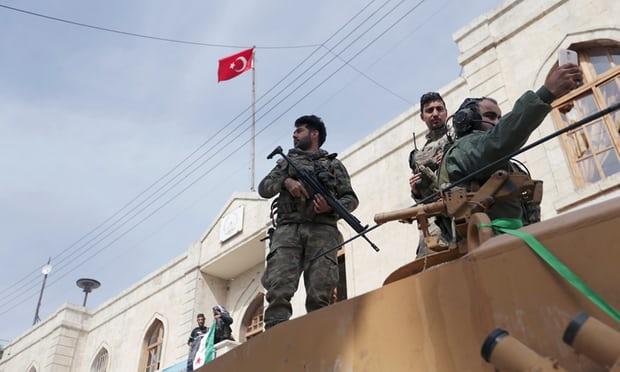 turkish soldiars in afrin
