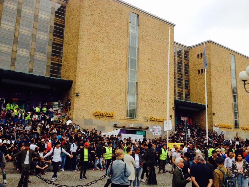 Седяща стачка на афганистански мигранти в Швеция