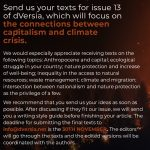 Call for Papers for our 13th issue on the climate crisis and capitalism